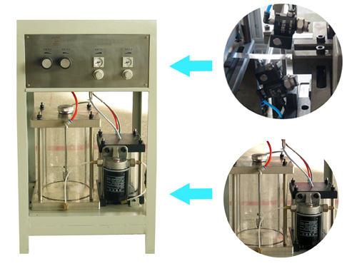 fractional spray lubricating device for aluminum fin machine